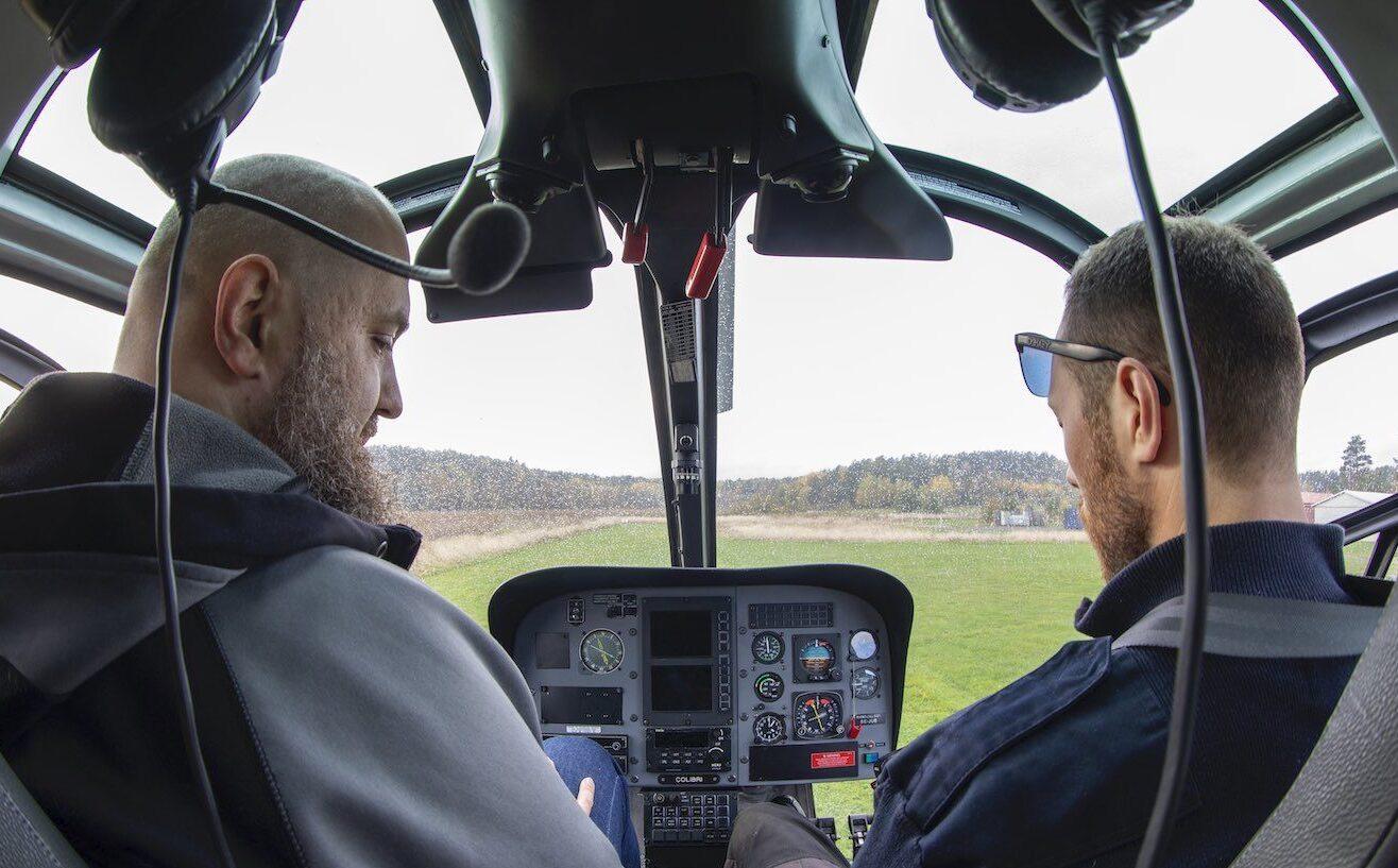 helikoptertur över Stockholm